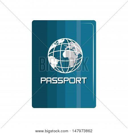 passport identification travel icon vector illustration eps 10