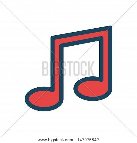 music note icon desing isolated vector illustration eps 10
