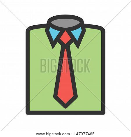 Dress, suit, formal icon vector image. Can also be used for employment. Suitable for use on web apps, mobile apps and print media.