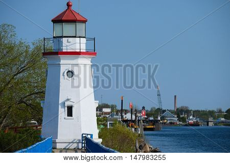 Cheboygan Crib Light, built in 1884, Lake Huron, Michigan, USA