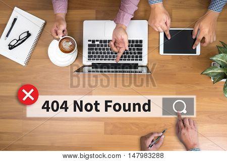 Not Found 404 Error Failure Warning Problem