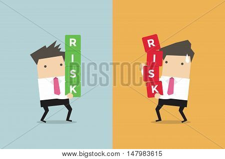 Businessman risk management. Business concept cartoon vector