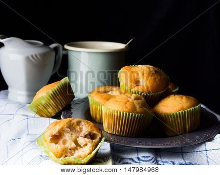 Spelt Wheat Muffins With Peaches