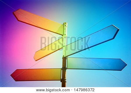 MultI coloured SIGN POST