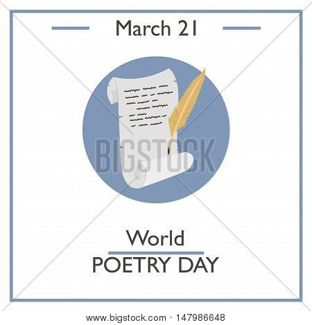 World Poetry Day, March 21