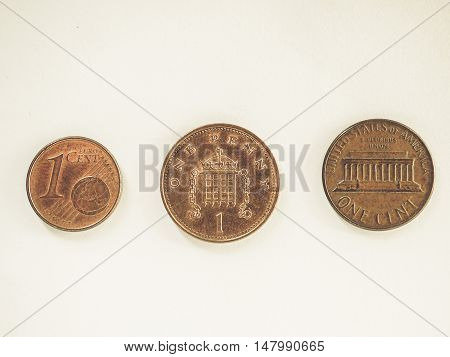 Vintage One Cent Coins