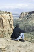 Senior Man Looking Out On Wedding Canyon