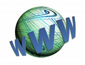 Www World Wide Web And Earth Over White