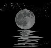 foto of full_moon  - illustration with full moon - JPG