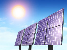 picture of solar battery  - Alternative energy sources - JPG