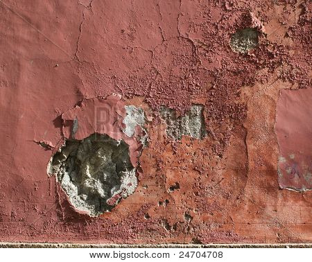 Grungy Plaster Stone Wall