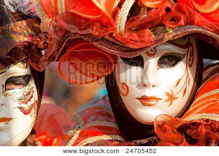Venice - March 05: Participant In The Carnival Of Venice, An Annual Festival That Starts Around Two