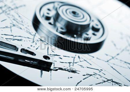 Pérdida de datos de disco duro roto