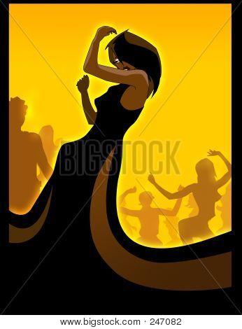 Schwarze Diva tanzen