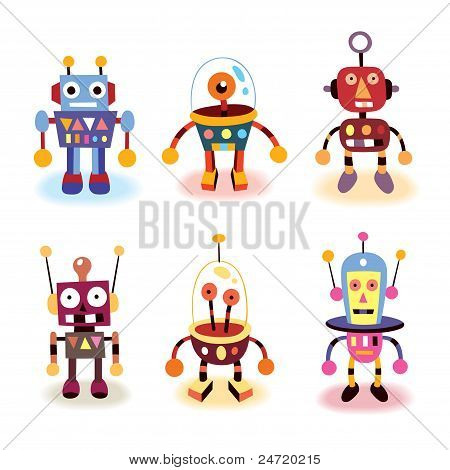 cartoon robots set