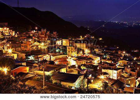 jiu fen village at night, in Taiwan