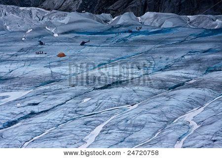Glacier And Climbers