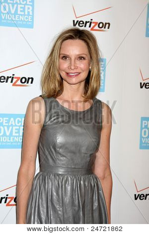 LOS ANGELES - OCT 28:  Calista Flockhart arriving at the Peace Over Violence 40th Annual Humanitarian Awards Dinner  at Beverly Hills Hotel on October 28, 2011 in Beverly Hills, CA