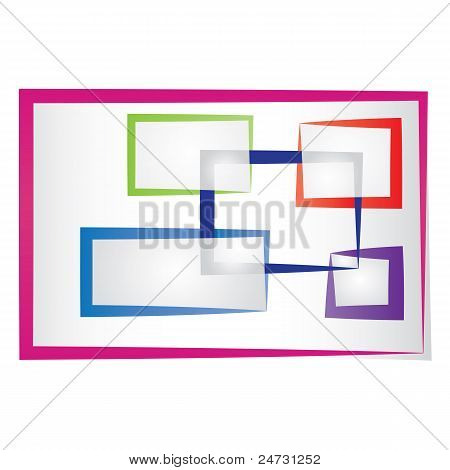 Abstract Colored Frames