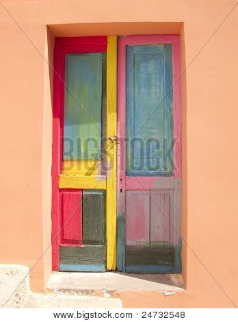 Bright and Colorful Door