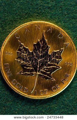 One Ounce Canadian Gold Bullion Coin