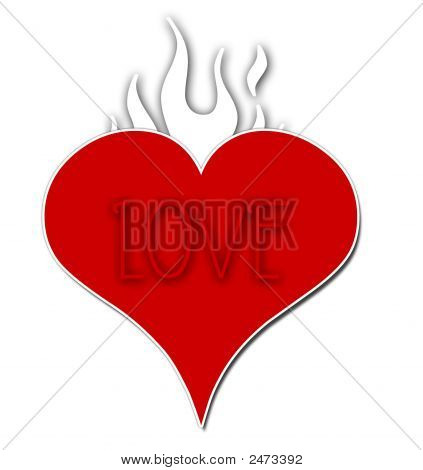 Flaming Love Heart