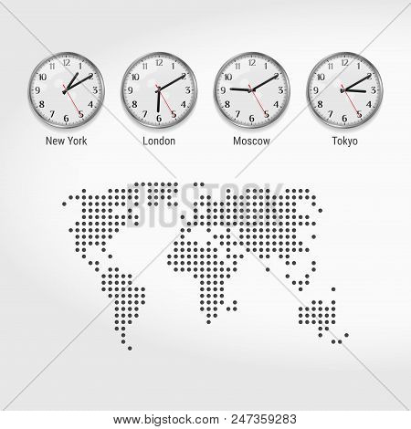 World Time Zones Clocks Current