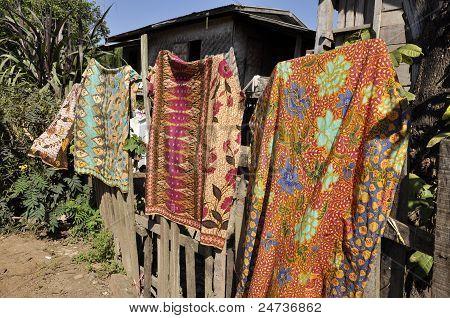 Sarong Cloth Thailand Asia Loas Local
