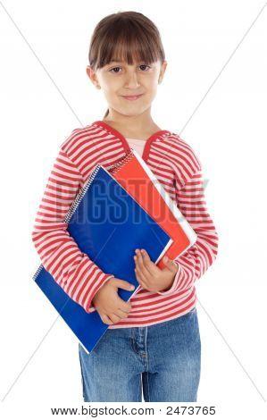 Adorable Girl Studying
