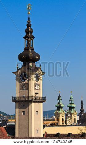 Linz - Landhaus Tower / Upper Austrian Landtag