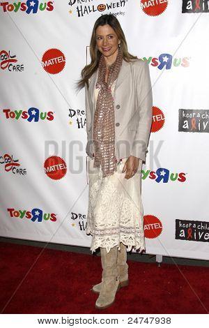 LOS ANGELES - OCT 29:  Mira Sorvino arriving at the 18th Annual 'Dream Halloween Los Angeles' at Barker Hanger on October 29, 2011 in Santa Monica, CA