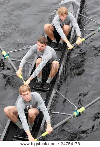 Dartmouth races in the Head of Charles Regatta