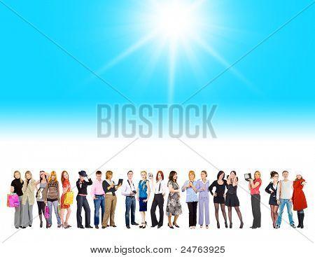 Futuro brillante grupo aislado