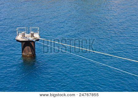 Naves azul y blanco cuerdas de amarre