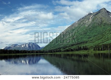 Kenai Peninsula Mountains In The Summer
