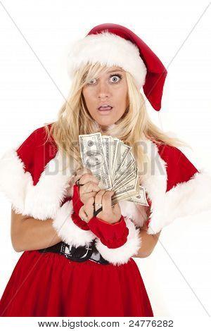 Frau Santa Money gefangen