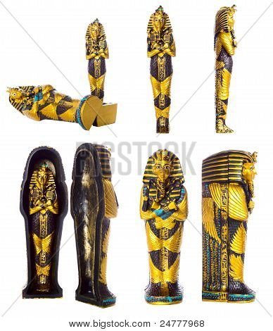Pharaoh Mummy Set| Isolated