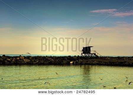 Life Guard Stand in Laganas Greece