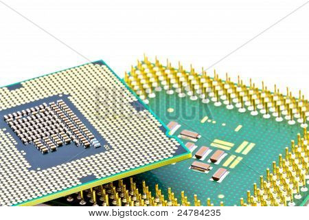 Smd Components On Bottom Of The New And Old Processors