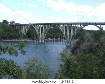 Bridge At RíO Canimar In Matanzas Cuba