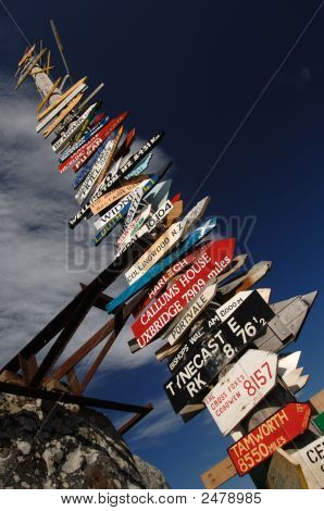 Falklands Totem Pole