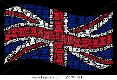 Waving Great Britain Official Flag