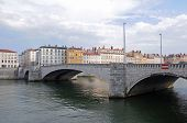 image of bonaparte  - Bonaparte Bridge over Saone River in Lyon France - JPG