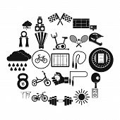 Cycling Icons Set. Simple Set Of 25 Cycling Vector Icons For Web Isolated On White Background poster