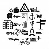 Exchange Icons Set. Simple Set Of 25 Exchange Vector Icons For Web Isolated On White Background poster