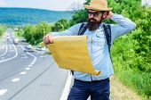 Find Direction Map Large Sheet Of Paper. Where Should I Go. Tourist Backpacker Map Lost Direction Tr poster