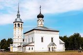 Church Of The Resurrection With A Bell Tower In Suzdal. Golden Ring Of Russia. poster