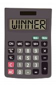 Old Calculator On White Background Showing Text