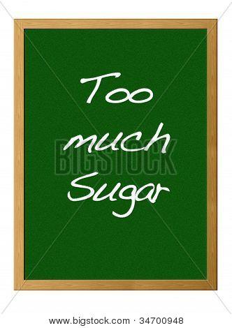 zu viel Zucker.