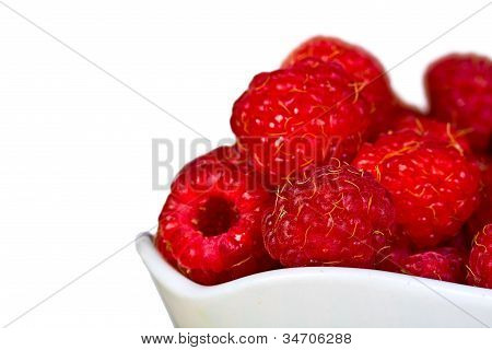 Ripe  Red Wild Raspberries